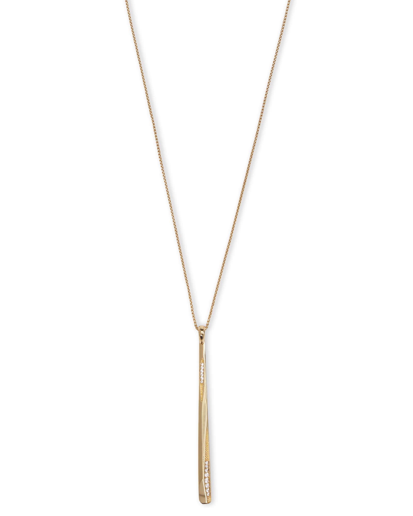 Ro Long Pendant Necklace In Gold