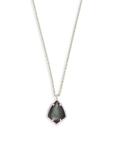 Cory Pendant Necklace in Black Pearl