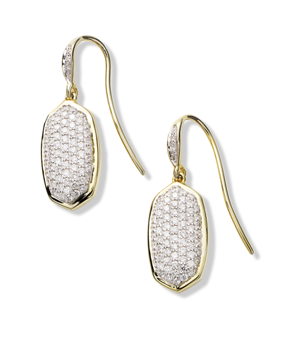 Lee Earrings in Pave Diamond and 14k Yellow Gold