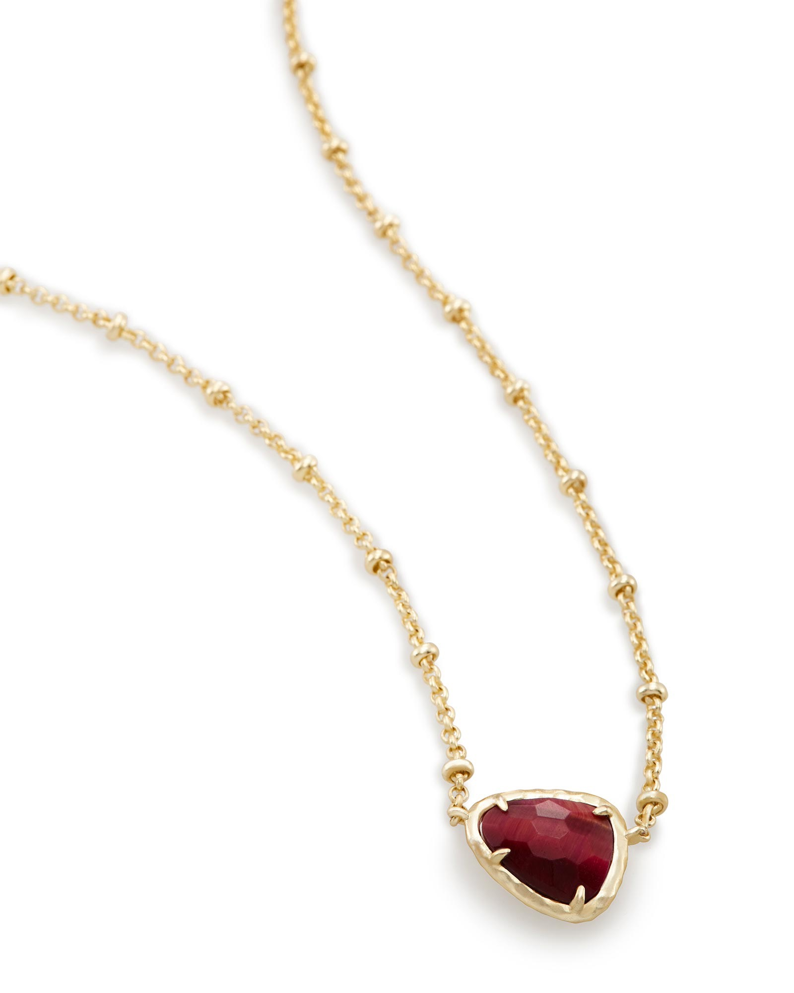 Arleen Pendant Necklace in Bordeaux Tiger's Eye
