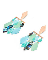 Hanna Rose Gold Statement Earrings in Abalone Mix