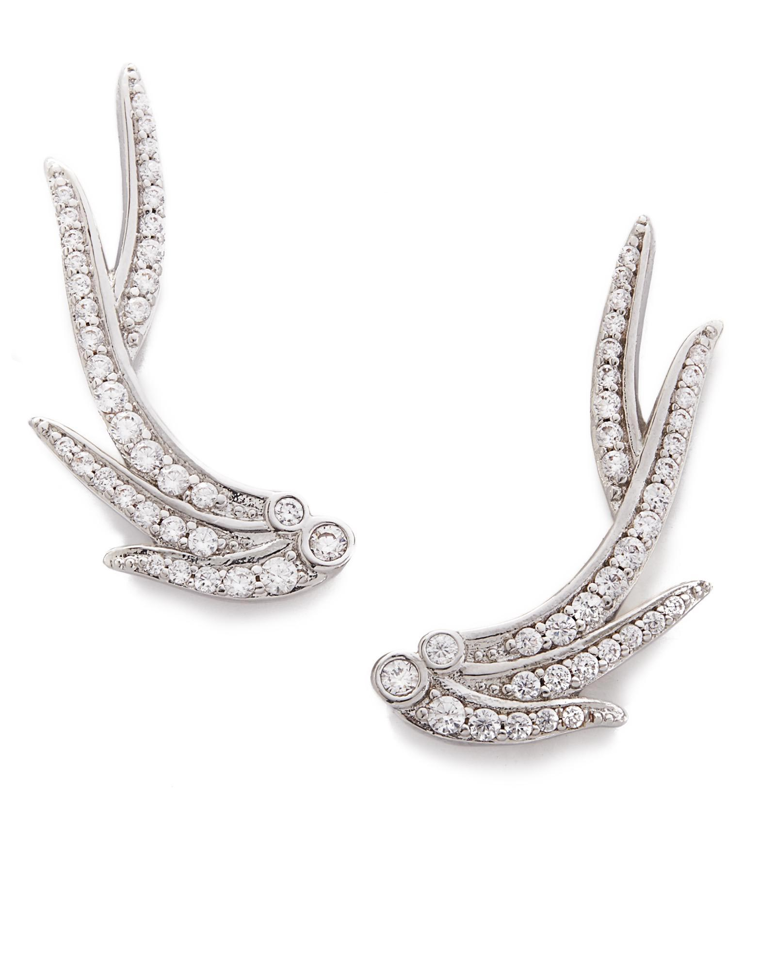 Daphne Ear Climbers in Silver