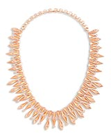 Cici Statement Necklace in Rose Gold