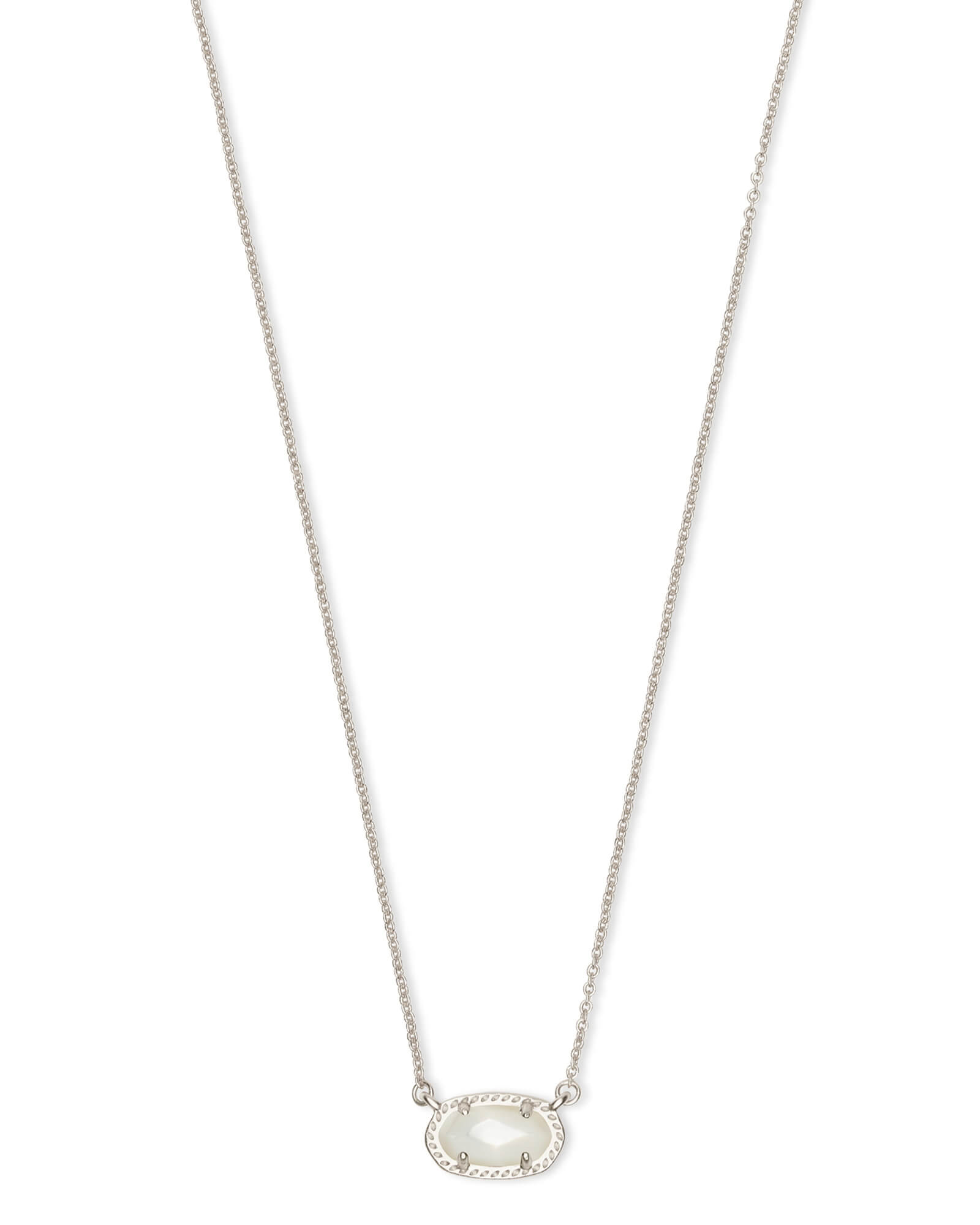 Ember Silver Pendant Necklace in Ivory Pearl