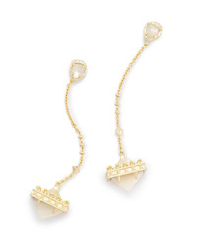 Gigi Ear Jackets in Ivory Pearl