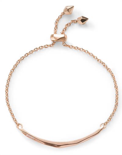 Angela Adjustable Chain Bracelet In Rose Gold