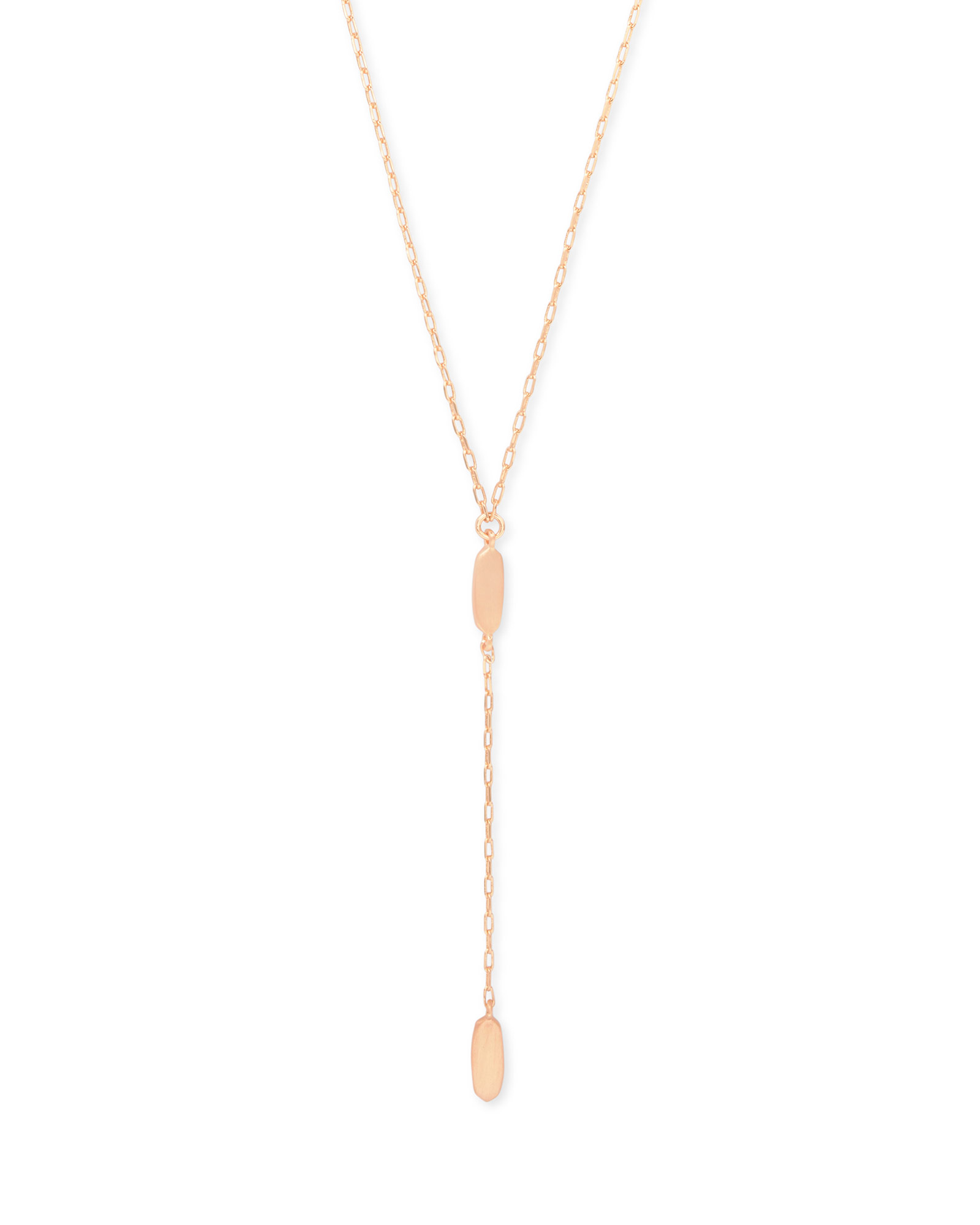 Fern Y Necklace in Rose Gold