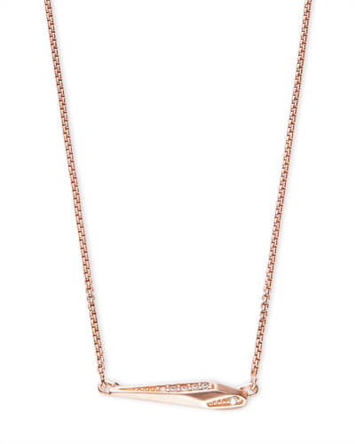 Tabitha Pendant Necklace in Rose Gold