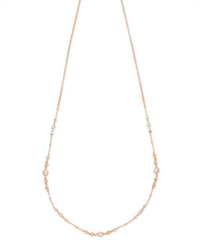 Winifred Adjustable Choker Necklace in Rose Gold