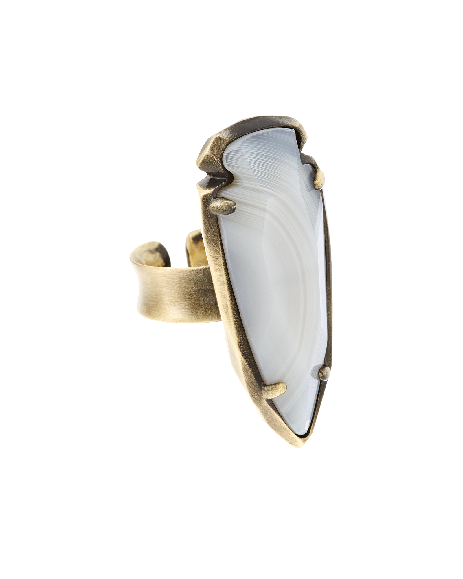 Kenny Ring in White Banded Agate