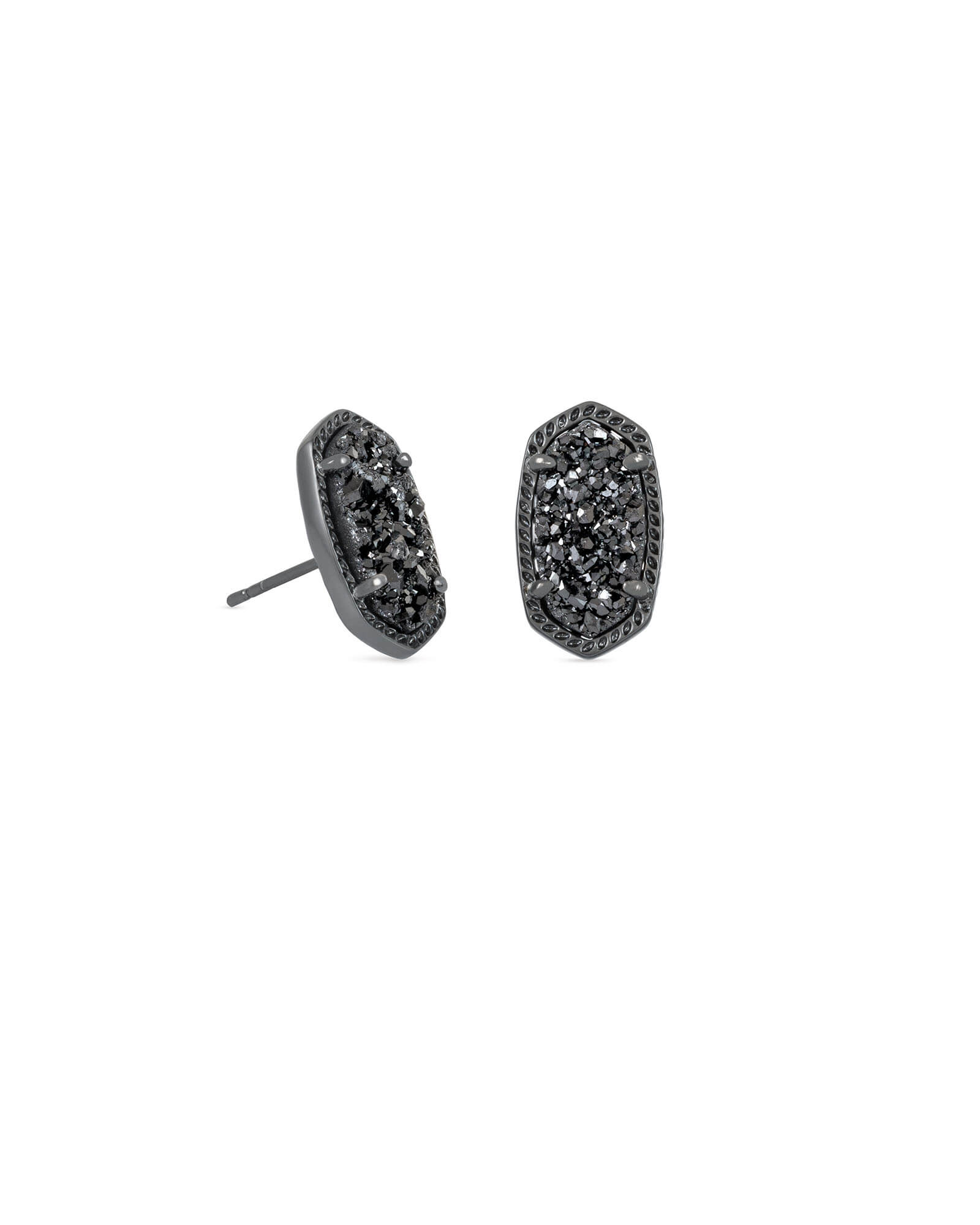 Ellie Stud Earrings in Black Drusy