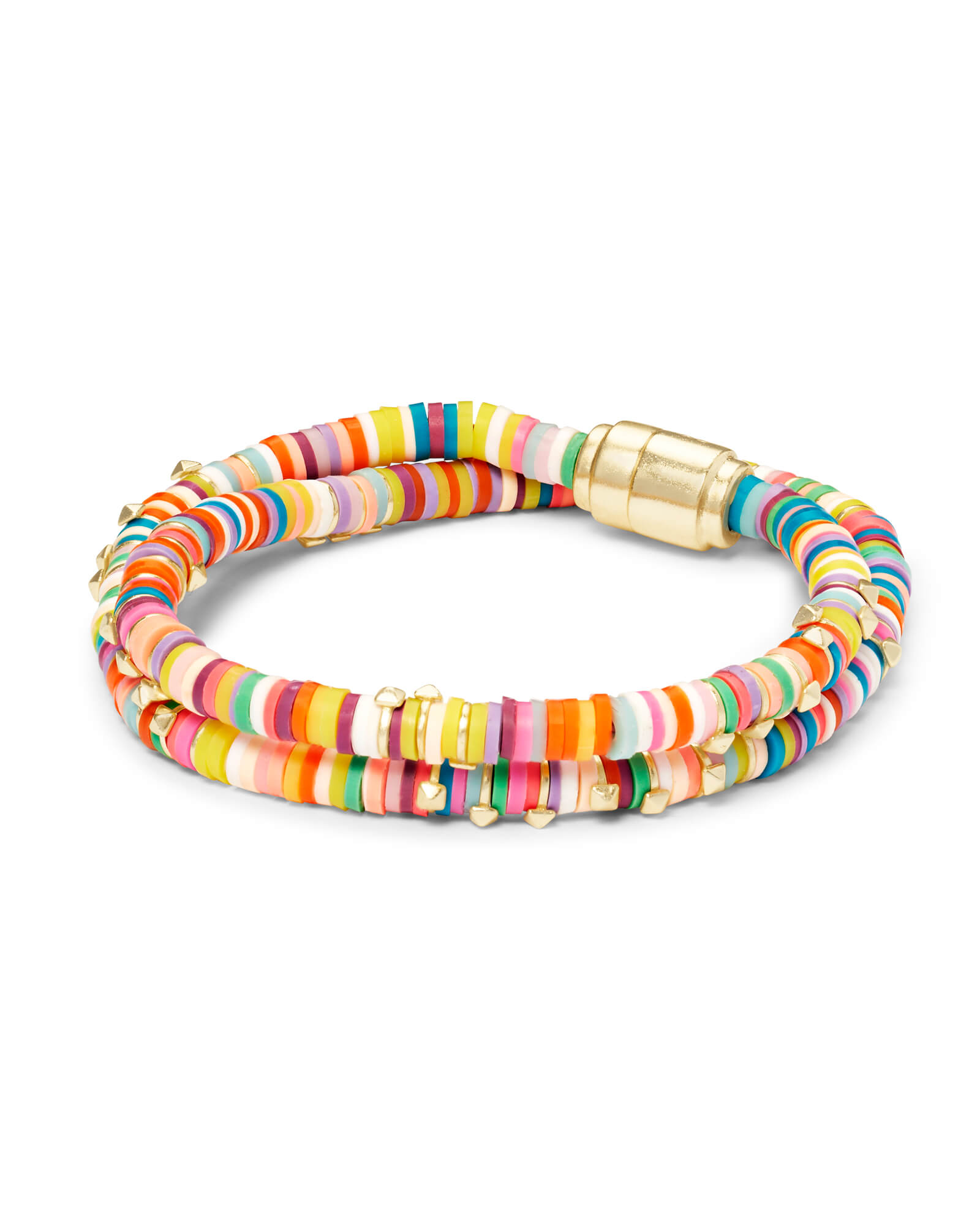 Reece Gold Wrap Bracelet in Bright Mix
