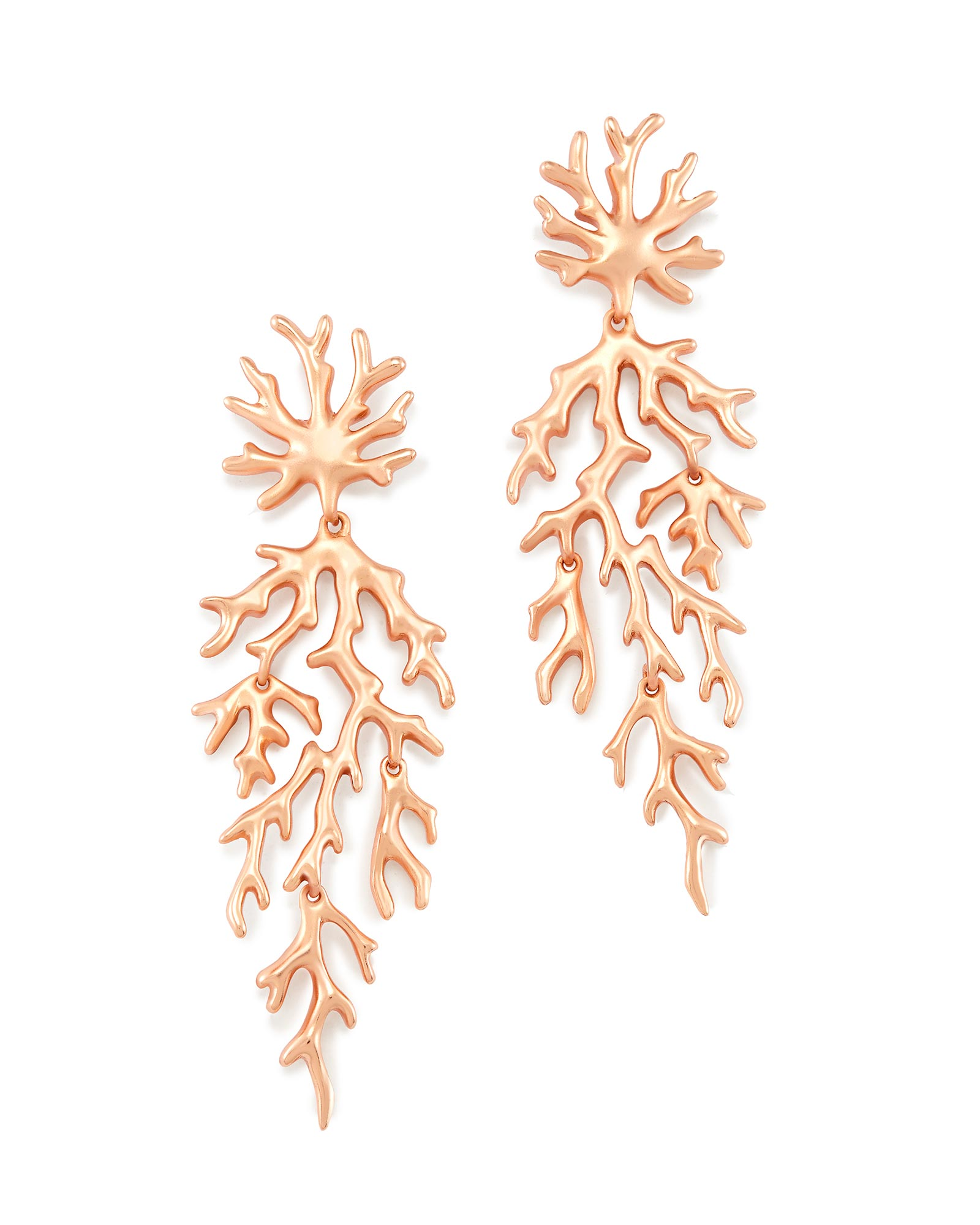 Aviana Statement Earrings in Rose Gold