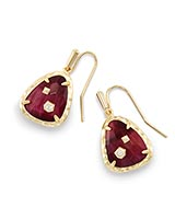 Asher Drop Earrings in Bordeaux Tiger's Eye