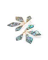 Malika Rose Gold Statement Earrings in Abalone Shell