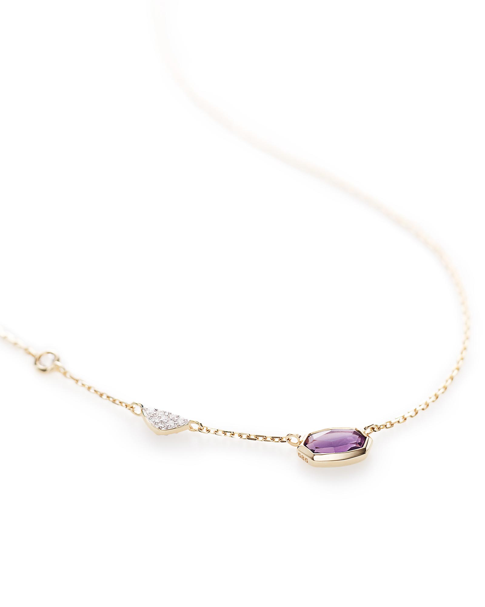 Aryn Pendant Necklace in Amethyst and 14k Yellow Gold