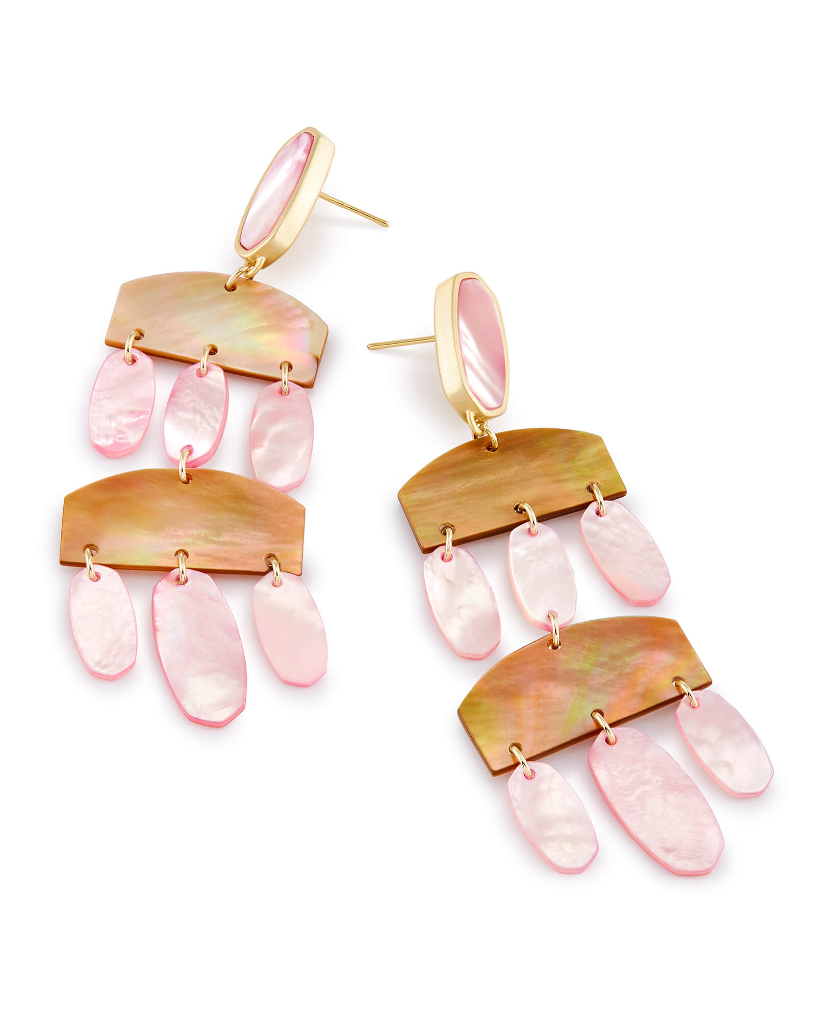 Emmet Statement Earrings in Blush Pearl