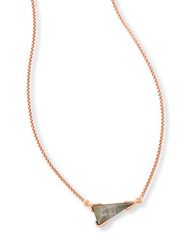 Racquel Pendant Necklace in Crystal Gray Illusion