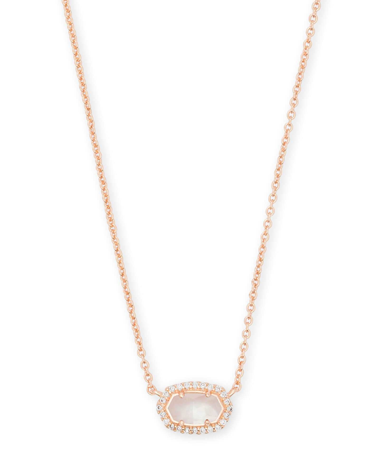 Chelsea Rose Gold Pendant Necklace In Ivory Pearl by Kendra Scott