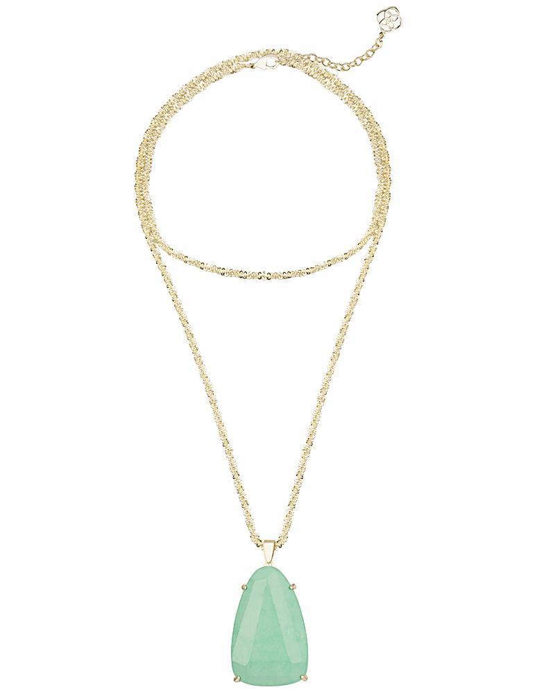 Sandra Pendant Necklace in Mint
