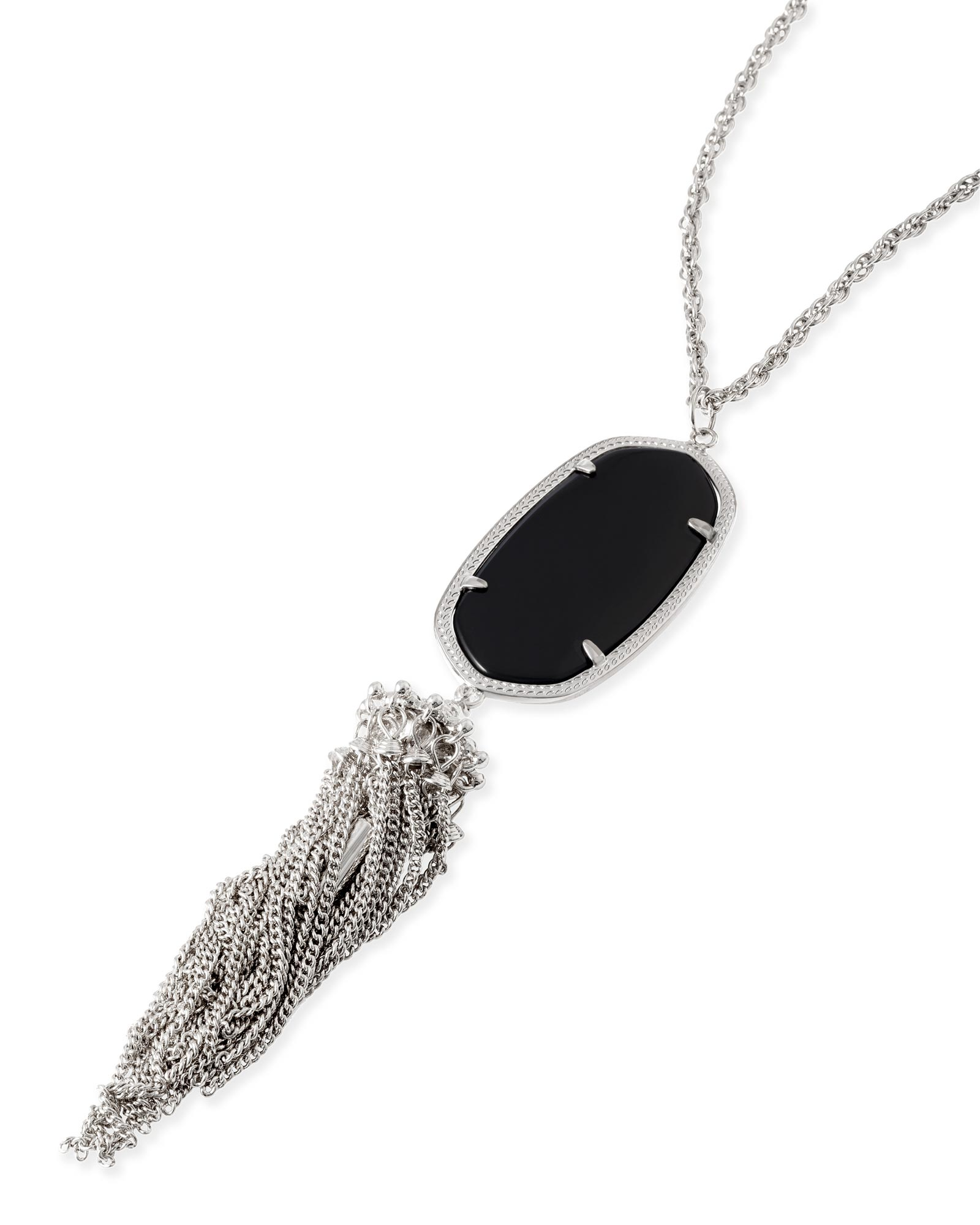 Rayne Silver Necklace in Black