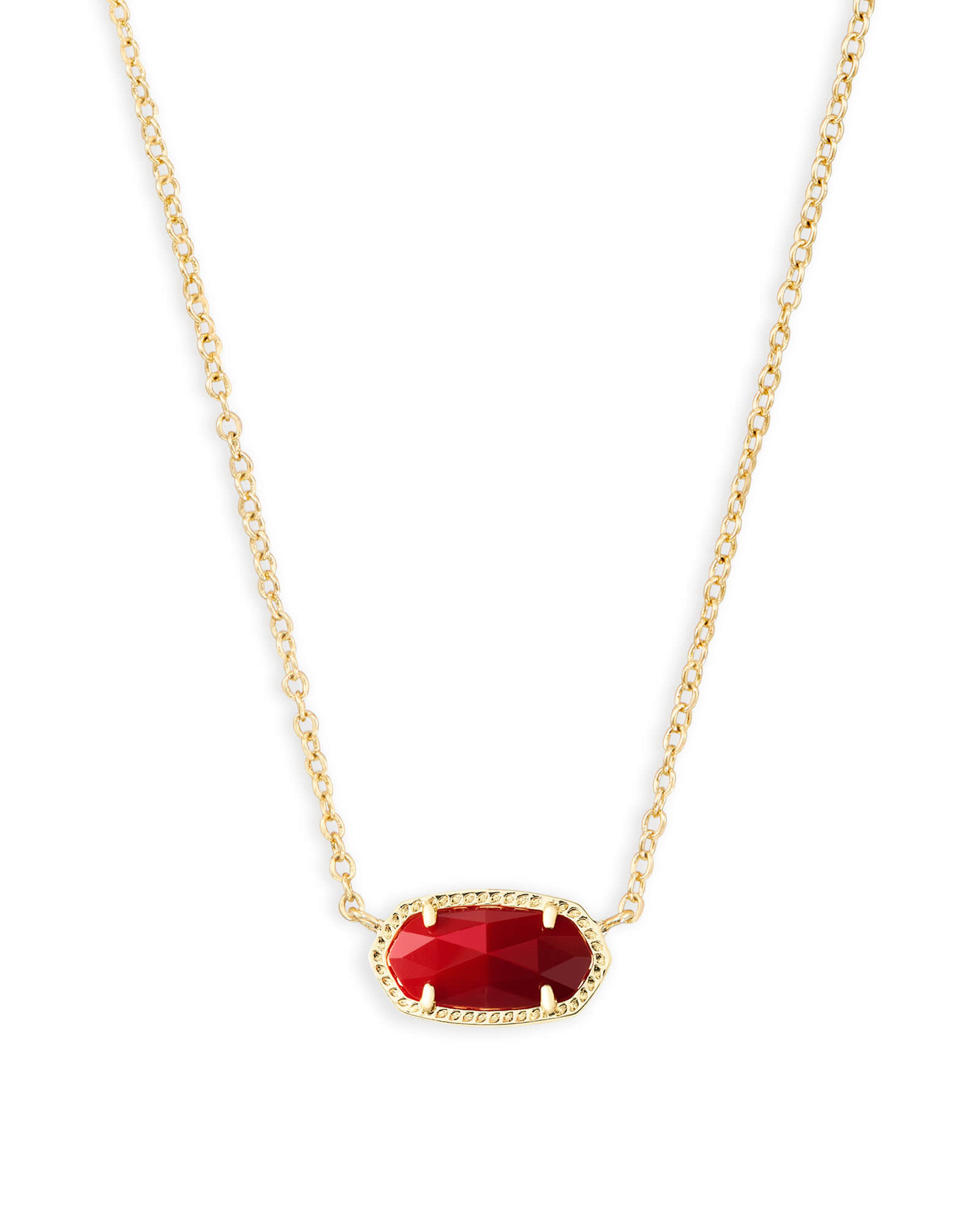Elisa Pendant Necklace in Dark Red