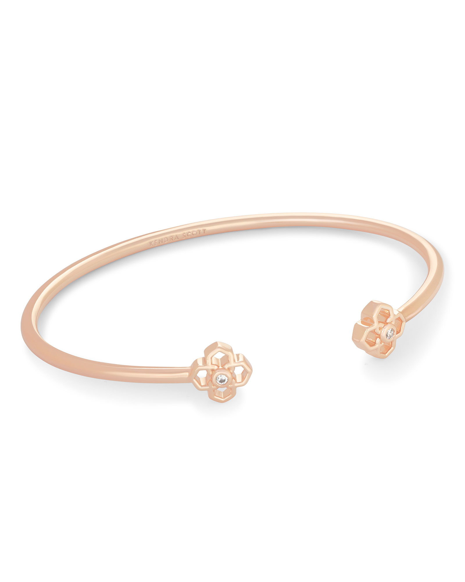 Rue Cuff Bracelet In Rose Gold